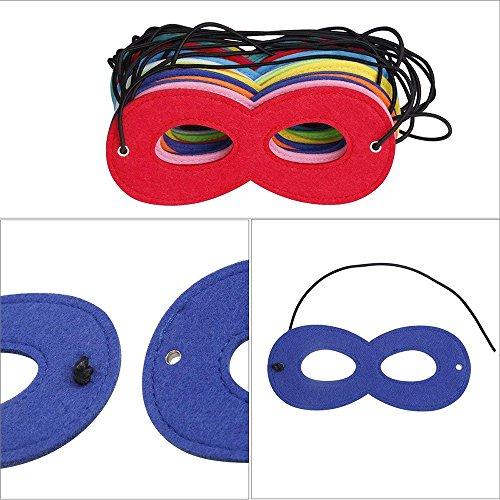 QQI Superhero Masks Super Masks Halloween  Mask Super Hero Cosplay Party Eye Masks Felt Masks with Elastic Rope for Kids Party  Multicolor  20 Pcs