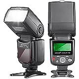 Neewer 750II TTL Flash Speedlite avec LCD Afficahge pour Nikon D7200 D7100 D7000 D5500 D5300 D5200 D5100 D5000 D3300 D3200 D3100 D3000 D700 D600 D500 D90 D80 D70 D60 D50 et Autres Nikon DSLR Caméras