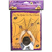 Pin The Spider On The Cobweb Halloween Party Game