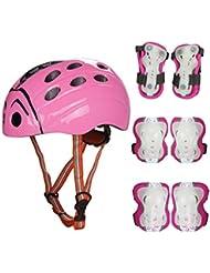 SymbolLife Los Niños Conjunto de Bicicletas Protección de Ciclo con el Casco , La Rodilla y la muñeca protección al Aire Libre : Patinaje, Fútbol, Voleibol, Baloncesto, BMX