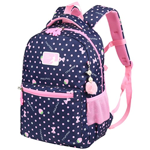 Vbiger Rucksack Mädchen Rucksack Kinder Schulrucksack Kinderrucksack Schultasche für mädchen 1-3 Klasse Blau (Mädchen Rucksack)