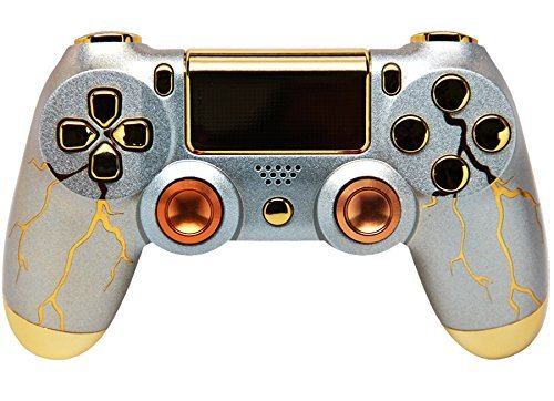 Gold Thunder PS4 Rapid Fire Custom Modding Controller 35 Mods Cod Advanced Warfare, Destiny, Ghosts Quick Scope Auto Run Sniper Atem und Mehr (Warfare Advanced 2 Playstation)