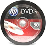 (100 Pack) HP Blank DVD R DVDR Recordable Branded 16X 4.7GB Media Disc DVDs