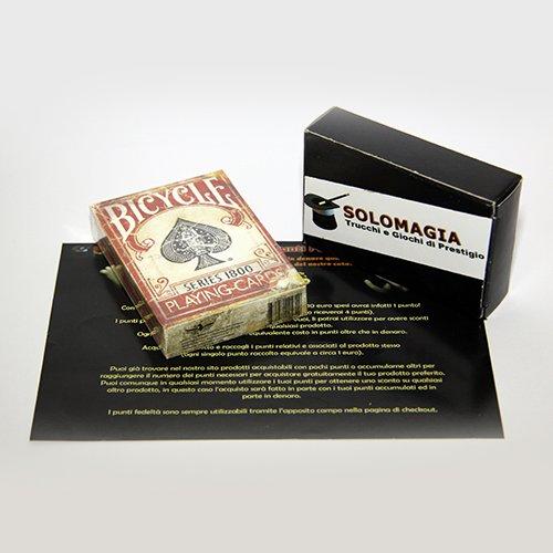 SOLOMAGIA Bicycle - Vintage Series 1800 - Red Back - Marked - Kartenspiele - Zaubertricks und Magie