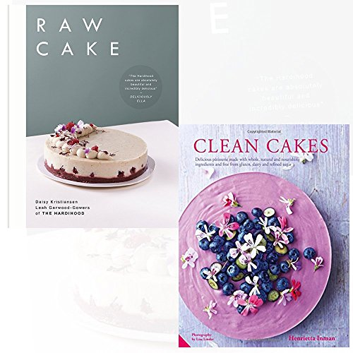 Raw Cake and Clean Cakes 2 Books Collection Set - 100 Beautiful, Nutritious and Indulgent Raw Sweets, Treats and Elixirs, Delicious pâtisserie made with whole, natural and nourishing ingredients and free from gluten, dairy and refined sugar