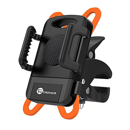 Price comparison product image Bike Mount Bicycle Holder,  Taotronics Universal Cradle Clamp for iOS Android Smartphone GPS other Devices,  with One-button Released,  360 Degrees Rotatable,  Rubber Strap