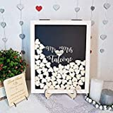 GUESTBOOK Wedding Alternative Pendant in The Shape of Hearts, 3D Mr And Mrs Wedding Guest Book customised, Rustic with Segno, Nozze Gifts for Wedding And Sposo N627782