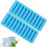 COMLIFE Ice Cube Stick Tabletts, Perfect Ice Stick für tragbaren Luftkühler, Easy-Release-Silikon und Flexible Eiswannen (2 Pack)