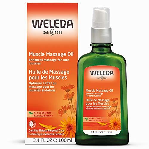 WELEDA Arnika Massage-Öl, pflegendes Naturkosmetik Körper Öl gegen Verspannungen und Verkrampfungen der Muskeln, ideal für vor und nach dem Sport (1 x 100 ml) -