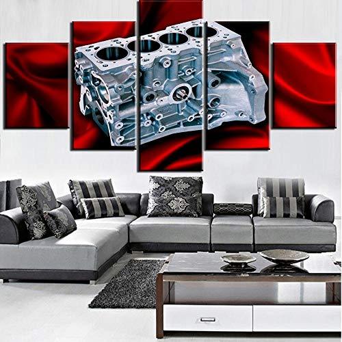 XuFan Quadro su Tela Motore per Auto Decorativo Moderno Quadro su Tela Decorazione per pareti 20x30cm-2p 20x40cm-2p 20x50cm-1p Senza Co
