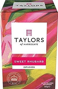 Taylors of Harrogate Sweet Rhubarb Infusion, 20 Teabags (Pack of 3)
