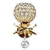 Luce Da Parete Di Cristallo, Lampada da Parete Decorativa E14 in Stile Moderno Lampada da Comodino Camera da Letto Soggiorno Lampada da Parete Decorazione Casa [Classe di Energia A+] (dorato)