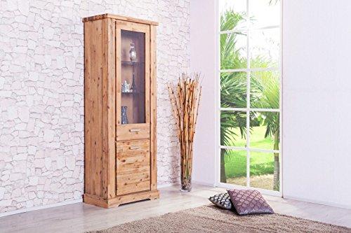 Möbelkultura COL-1Wohnwand tv-schrank, Vitrine Bücherschrank, Holz, braun / grau, 70 x 174 x 200 cm - 3