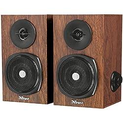 Trust Vigor - Set de altavoces de madera 2.0, 24 W, color marrón