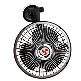non-brand Sharplace 24V Ventilador Fan Eléctrico con Ventosa Montaje en Parabrisas de Coche Camión Carro Auto