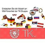20x Servietten Serviette 3-lagig Deutschland Flagge 33x 33 cm 3 farbig schwarz rot gelb/gold Fanartikel Dekoration Deko…