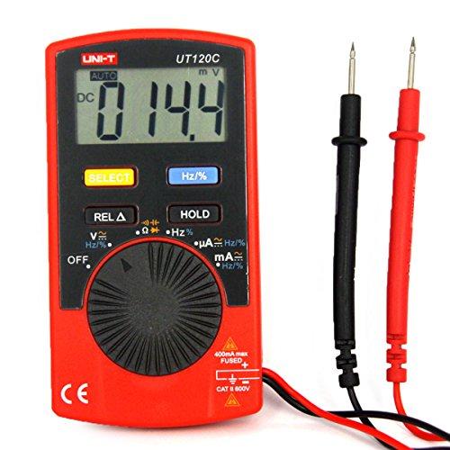 UNI-T UT120C Mini Tragbare Digital Multimeter Auto Range Voltmeter Tester Amperemeter Multitester DC AC Spannung Diode Mini Elektrische Meter LCD Display