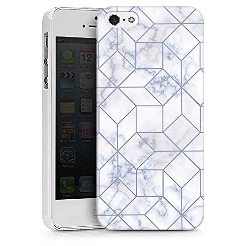 Apple iPhone X Silikon Hülle Case Schutzhülle Marble Weiss Muster Hard Case weiß