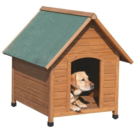 Hundehütte aus Kiefer-Holz wetterfest mit Bitumendach 100 x 88 x 99 cm Hunde-Hütte höhenverstellbare Füße