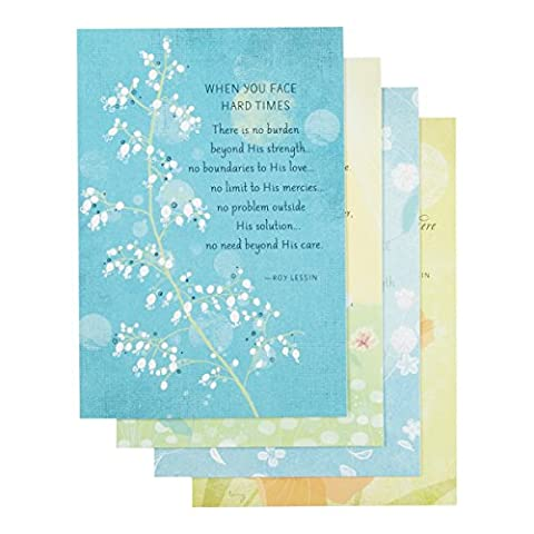 DaySpring Care & Concern Boxed Greeting Cards w Embossed Envelopes - Roy Lessin, 12 Count (86076) by