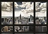 Close Up New York Poster Skyline Fenster (140cm x 100cm) + Ü-Poster