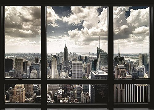 (Close Up New York Poster Skyline Fenster (140cm x 100cm) + Ü-Poster)