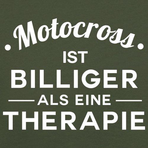 Motocross ist billiger als eine Therapie - Herren T-Shirt - 13 Farben Olivgrün