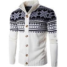 Uomo Maglia maglione,Amlaiworld Colori misti Cappotto maglione stile