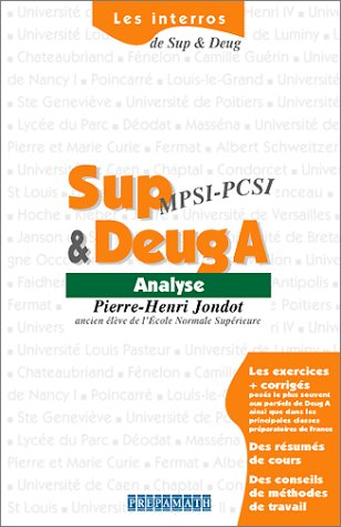 Analyse Sup & Deug A
