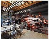 Apoart 3D Papier Peint Mur D'Outillage D'Origine Pour Voitures De Sport Bmw 450Cmx300Cm