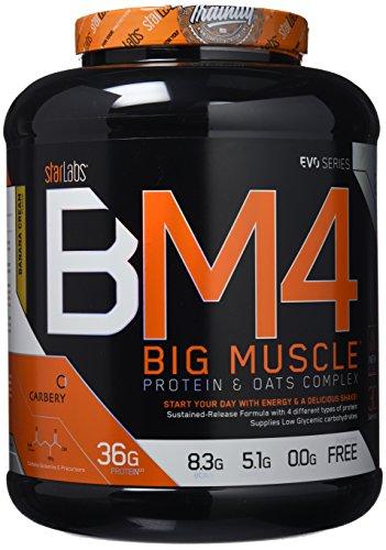 Starlabs Nutrition BM4 Big Muscle Suplemento Nutricional Sabor Plátano - 2000 gr