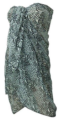 avvolgere resortwear coprire sarong gonna donne costume da bagno pareo beachwear di bagno dello swimwear vestito Nero Silenzioso