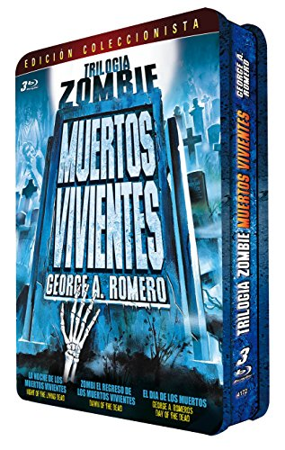 Trilogia Zombie George Romero Caja Metalica 3 BDs [Blu-ray]