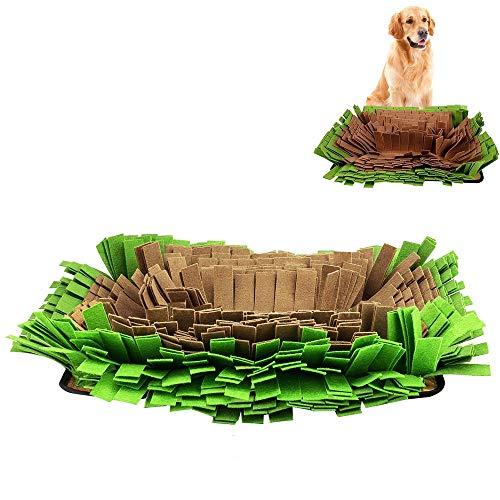 YCGJ Haustierkuffelmatte, Futtertrainingsmatte für Hundedecke, Fütterung Mats Waschbares Haustiertraining Decke, Haustier Spielzeug-Perfekt für Jede Rasse,Green/Brown