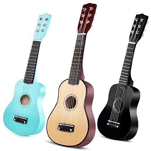 "COSTWAY 21\"" Kindergitarre, Konzertgitarre 6 Saiten, Kinder Ukulele mit Plektrum, Kinder Gitarre, Klassikgitarre aus Holz, Akustikgitarre, Holzgitarre für Anfänger Farbwahl (natur)"