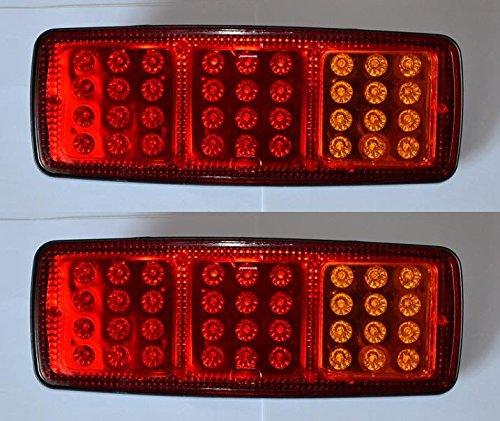 2x Rear Tail LED 12V luce 3funzioni per camion rimorchio telaio ribaltabile camper e camion camper