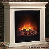 Rubyfires Elektrokamin Elektrofeuer Kaminumbau Cadiz Einsatz Top Flame TF1570G MDF Farbe weiß