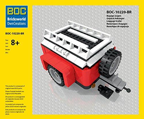 BOC-10220-BR Gepäck Anhänger Farbe Rot Zubehör für LEGO 10220 Bus