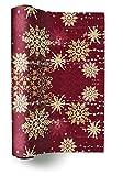 Tischläufer (TL Golden snowflakes) Schneeflocke gold Weihnachten Winter Schnee Tiere Wald Schneemann Merry Christmas