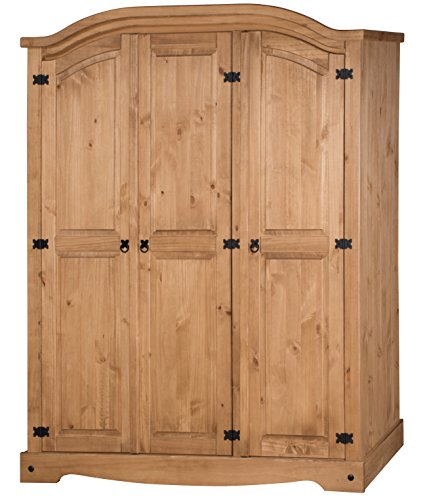 Mercers Furniture Corona 3-Door Arch Top Wardrobe