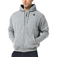 ORORO Heated Hoodie, Invierno, Unisex, Color Gris, tamaño Small