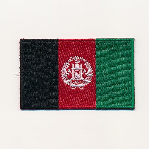 40 x 25 mm Afghanistan Flagge - Kabul Flag - Patch Aufnäher Aufbügler 0935 A