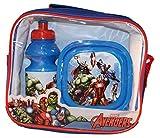Marvel Avengers Frühstücks Set - Trinkflasche + Brotdose inkl. Tasche