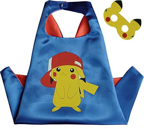 Special ABC Party Pokemon Pikachu Blau Kindes Umhang & (Abc Partei Kostüm)