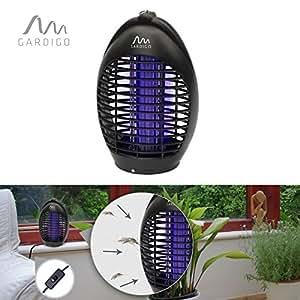 Gardigo Exterminateur d'insectes volants 20m² avec UV LED Noir