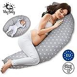 Cuscino Gravidanza per dormire Cuscini Allattamento - pregnancy pillow premaman, maternita per Mamma incinta e Neonato riduttore lettino Grigio