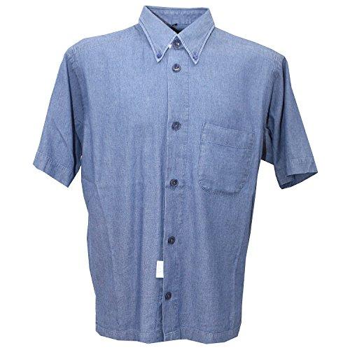 Signum, Freizeithemd kurzarm, Classic Cut, jeansblau meliert [16287] Jeansblau Meliert