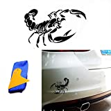 ABy 1 x Skorpion Auto ufkleber für Auto Van Fenster Motorhaube Helm, Auto-Dach, Wände, Autoreifen-Abdeckung und mehr -11.8