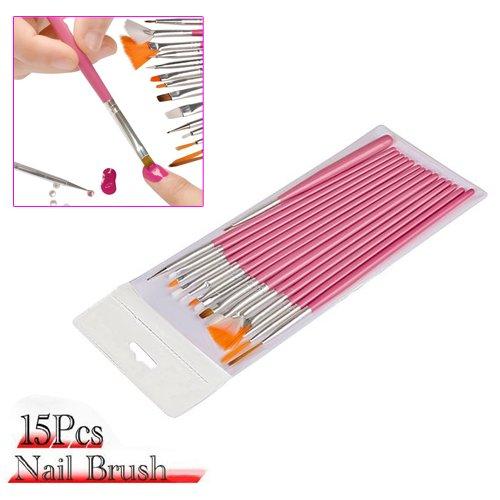 FACILLA® Set de 15 Pinceaux à Ongle pour Déco Gel UV Nail Art Manucure Professionnel