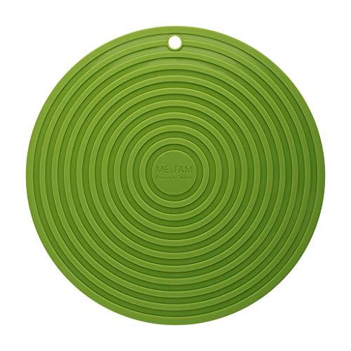 Lfy tovaglietta rotonda grande a 6 pezzi, 8 colori selezionabili casualmente, tappetino per tappetino in silicone per tappetino in silicone ecologico tovagliette (colore : verde)